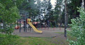 Lekplats vid Bergshamragatan