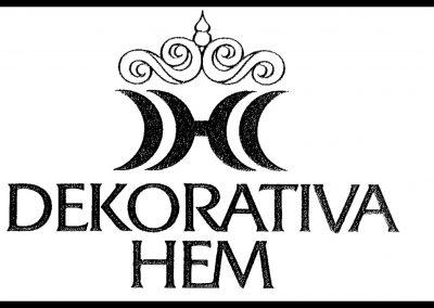 Dekorativa hem logotyp logga knivsta långhundra